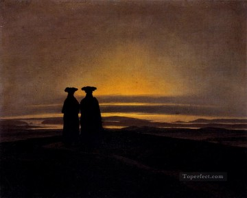 Sunset Romantic Caspar David Friedrich Oil Paintings